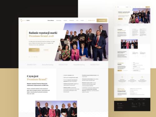 Strona internetowa Premium Brand